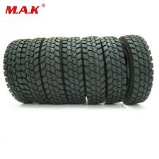100 14 Truck Tires 4 Pcsset Fit For Tamiya 1 Tractor Truck Trailer Climbing Car