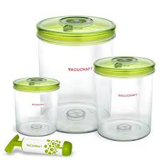 Wayfair Kitchen Canister Sets by Amazon Com Vacucraft 4 Piece Cylinder Vacuum Food Container Set