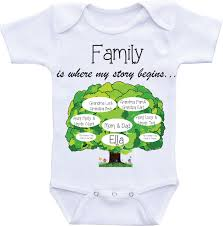 family tree onesies unique baby onesie personalized custom