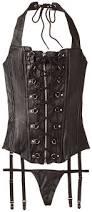 allure lingerie women u0027s plus size leather lace up zipper front