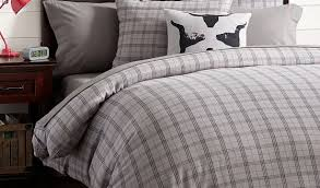 Plaid Flannel Duvet Cover Bedroom