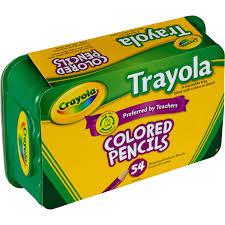 Crayola Bathtub Crayons 18 Vibrant Colors by Crayola Trayola Colored Pencils Set 54 Count 9 Colors Walmart Com