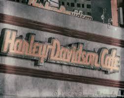 Las VegasHotel SignHarley DavidsonVintageColorfulWall Art
