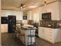 White Kitchens With Black Appliances Brilliant On Kitchen