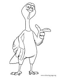 Free Birds Reggie The Turkey Coloring Page