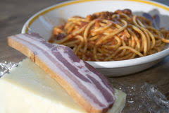 pates a l amatriciana all amatriciana de pâtes photo stock image 48789940
