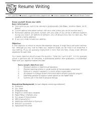 Resume Objective Ideas A Sample With For Student Examples