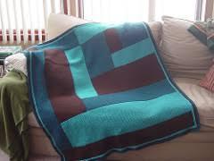 Ravelry Moderne Log Cabin Blanket pattern by Kay Gardiner and Ann