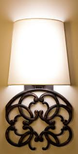 cordless sconce light with wall scroll