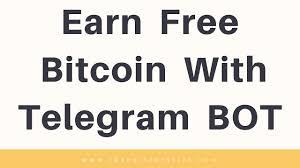 Bitcoin Faucet Bot 2017 by Earn Free Bitcoin With Telegram Bot Robot Cash Telegram Bot