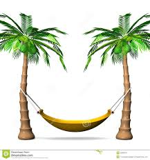 tree and hammock clipart