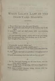 The Wound Dresser Summary Shmoop by When Lilacs Last In The Dooryard Bloom U0027d Wikipedia