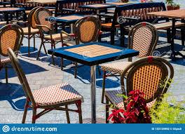 Chairs And Tables In Cozy Outdoor Cafe Stock Photo - Image ... Empty Plastic Chairs In Stadium Stock Image Of Inoutdoor Antiuv Folding Stadium Seatstadium Chair Woodsman Ii Chair Coleman Outdoor Caravan Sport Infinity Zero Gravity Lounge Active Red Garden Grey Amazoncom Yxhw Folding Portable Beach Details About 2 Lweight Travel Patio Yard Antiuv Outdoor Bucket Seatingstadium Textaline Fabric Camping Beige Brown Interior Theme To Bench Sports Blue Rows Chairs At An Concert Audience Seats