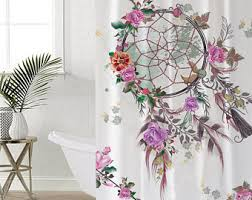 dreamcatcher curtain etsy