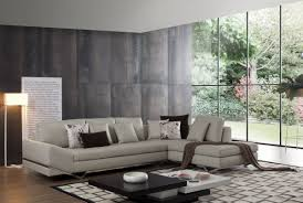 attractive colorful cushions on lovely grey leather living room