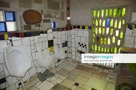 stockfoto inside the hundertwasser toilets kawa