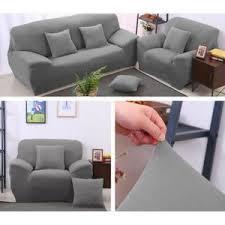 housse de canapé pas cher gris housse canape 3 places gris achat vente housse canape 3 places