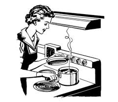 Cook Clipart Black And White 8