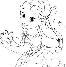 Coloring Pages Disney Princess Printable Baby Free