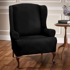 Sure Fit Wing Chair Recliner Slipcover by Decorating Enchanting Burgundy Stretch Wing Chair Slipcover Ideas