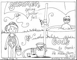 Great Summer Coloring Pages With And Clothes