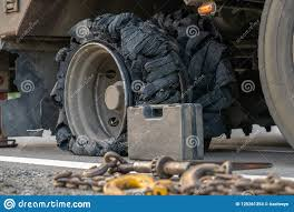 99 Truck Tools The Tires Are Bursted Stock Photo Image Of Truck Ripped