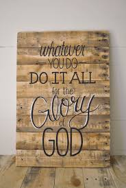 OBSESSED with ALL of these Glory Reclaimed Wood Wall Sign