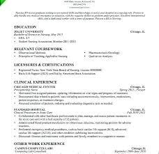 Grad Nurse Resume Examples Example New With No Experience Graduate Cover Letter Template