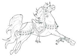 Realistic Horse Coloring Pages For Free Horses Page Of