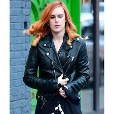 rumer willis leather jacket biker style women u0027s black jacket