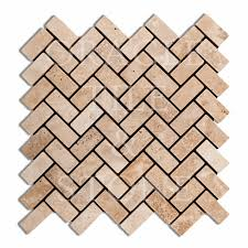 Oracle Tile And Stone andean vanilla travertine herringbone mosaic tile oracle tile