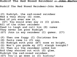 Rockin Around The Christmas Tree Chords Pdf by Song Rudolf The Red Nosed Reindeer By John Marks With Lyrics For