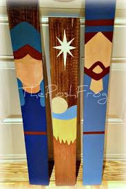 Christmas Nativity Scrap Wood Pallet Hand Painted By ThePoshFrog On Etsy