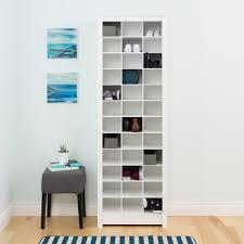 White Storage Cabinets At Home Depot by Prepac White Space Saving Shoe Storage Cabinet Wusr 0009 1 The