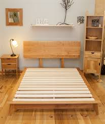 Reclaimed Urban Cherry Wood Bed Frame