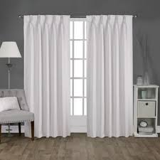 pinch pleated drapes for traverse rods wayfair