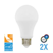 feit electric 60w equivalent yellow colored a19 led bug light bulb