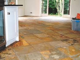 Slate Tiled Floor Chelwood Gate Before Cleaning