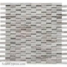 daltile mosaics chenille white silver screen 1 x random