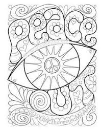 The Peace And Love Coloring Book Features 30 Groovy Illustrations To Celebrate Your Inner Hippie Signs Flowers Rainbows Owls Lava Lamps More