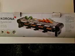 korona raclette grill 2 4 personen