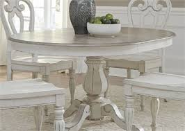100 Oak Pedestal Table And Chairs Magnolia Manor Dining Woodstock Furniture