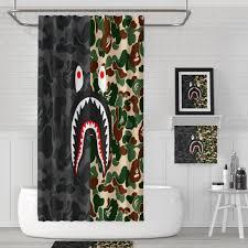 Bape Shower Curtain Bathroom Ramadan Decoration The Curtains Measure