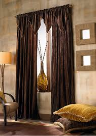 Modern Curtains For Living Room Pictures by Living Room Traditional Window Treatment Idea With Dark Brown