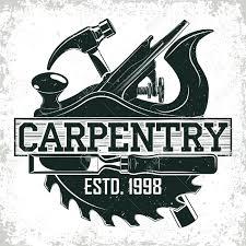 Vintage Woodworking Logo Design Grange Print Stamp Creative Carpentry Typography Emblem Vector Stock