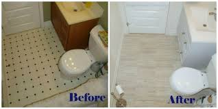 excellent remodelaholic bathroom redo grouted peel and stick floor