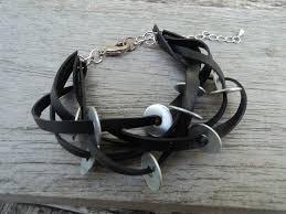 bijoux en chambre a air bracelet chambre à air recyclée et rondelles métal rustines