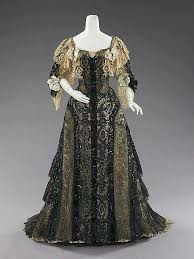 Evening Ensemble Silk Date This Is A Glittering Extravaganza For Formal Ball The Neoclassical Motifs Of Lace Are Interesting Particularly