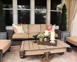 Amazing Living Room Pallet Table With Sofa