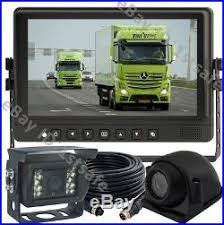 9 LCD Monitor Backup Rear Side View Reverse Camera System For Ag Truck Rv
